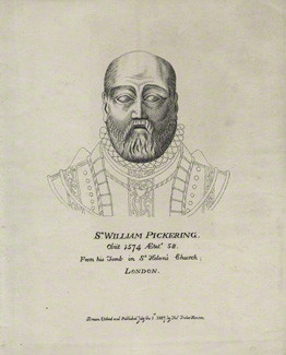 NPG D25178; Sir William Pickering by Thomas Fisher