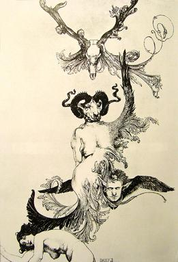 "1Austin_Osman_Spare's_artwork_""Ascension_of_the_ego_from_ecstasy_to_ecstasy"""